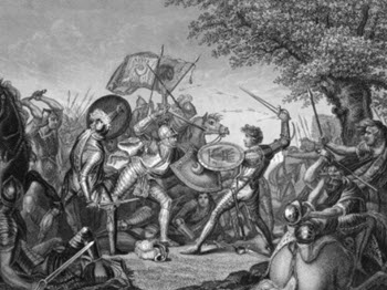 Battle of Langport etching